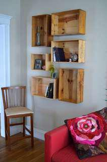 Wine Crate Shelving (5 pieces set)
