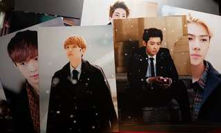 EXO 12月的奇跡 官方postcard set