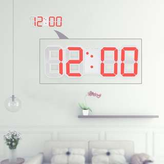 Large Multi-Functional LED Digital Wall Clock 12H/24H Time Display With Alarm and Snooze Function Adjustable Luminance