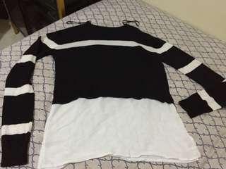 The Executive fake 2 piece top sweatershirt