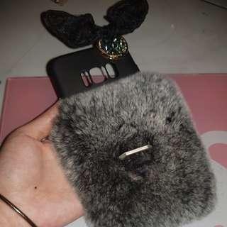Case Fur Bulu S8 lucu dan lembut