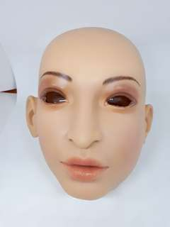 Silicon full head female mask