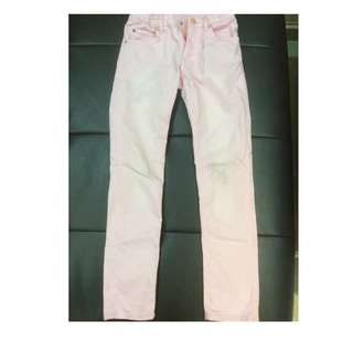 Pink jeans by H&M for 6-7 years old. Condition 8/10.