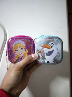 Coin Pouch of anna and olaf from Frozen