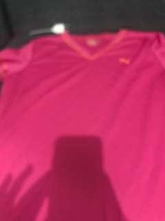 DAMAGED drifit pink puma shirt