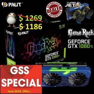 Palit GTX 1080 Ti GameRock Premium Edition 11GB GDDR5X.., ( Till.. 30 June 2018 Offer  Ends...)