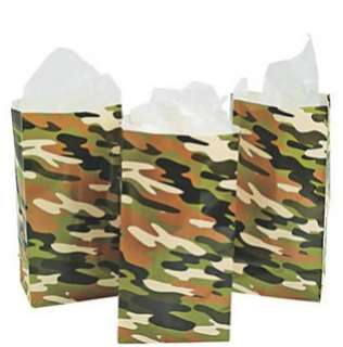 🚚 (In Stock) Paper Camouflage Party Favor Bags (12 pieces)