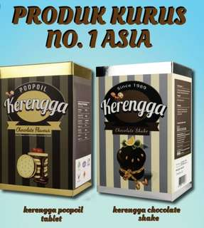 [INSTOCK] Kerengga Chocolate Shake/Kerengga Poopoils Chocolate Tablet
