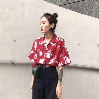 PO Floral blouse