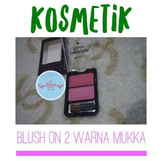 Blush On 2 Warna Merk Mukka