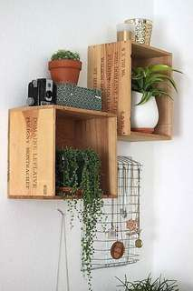 Wine Crate Shelving (4 pieces set)