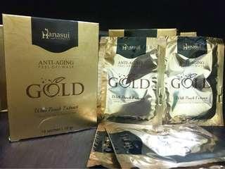 Hanasui masker gold
