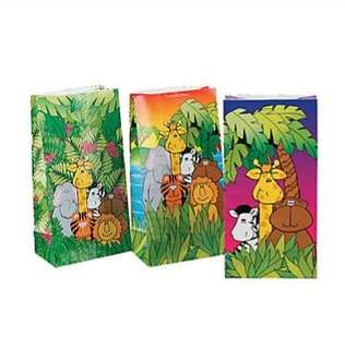 🚚 (In Stock)  Zoo Animal Party Favor Bags (12 pieces)