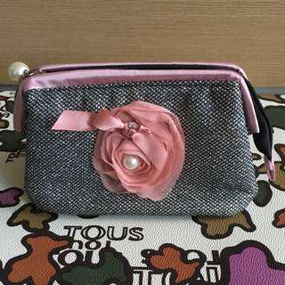Rose pink cosmetics bag clutch