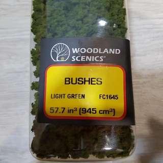 Light Green Bushes Flock