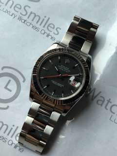 Rolex Turn-o-Graph 116264 Black dial box and paper