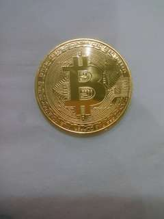 Bitcoin coins cryptocurrency digital 999 copper fine