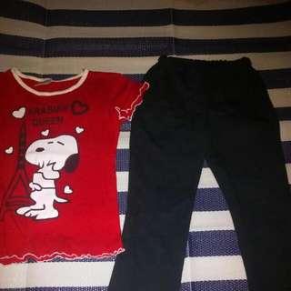 Snoopy Shirt & Leggings