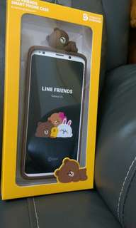 LINE FRIENDS 熊大Samsung Galaxy S9+ smart phone case