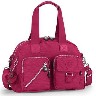 Kipling Defea Bag in Berry  紫紅色猴子兩用手袋