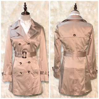 BNWOT VANCL Double Breasted Tan Belted Trench Coat