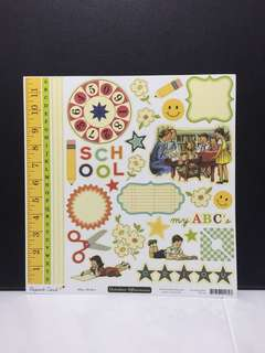 October afternoon report card papers and stickers