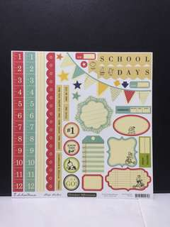October afternoon Schoolhouse papers and shape stickers