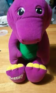 1992 Playskool Talking Barney The Purple Dinosaur Plush