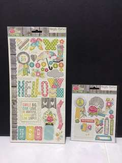 Simple Stories Vintage Bliss Chipboard Stickers and Layered Stickers