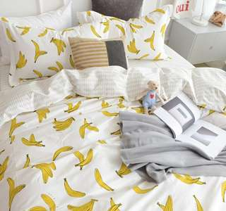 Banana Marble Bedding Set (Cotton Bedding Set)
