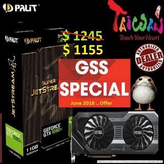 Palit GTX 1080 Ti Super JetStream 11GB GDDR5X.., ( Till.. 30 June 2018 Offer  Ends...)