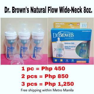 Dr. Brown's Natural Flow Wide Neck 8oz.