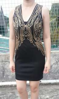Little Black Dress with Gold accent - USED ONCE