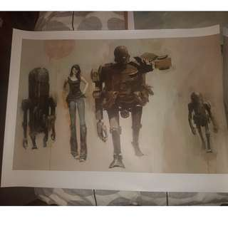 ThreeA Ashley Wood Lady Sham Stroll HUGE POSTER ! RARE SOLD OUT!