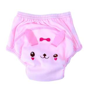 Baby Washable Cloth Diapers Training Pants (Pink)