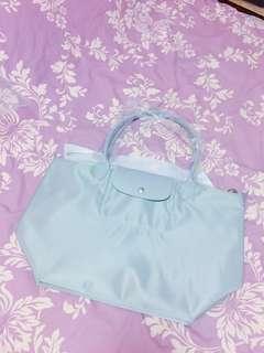 Longchamp 淺灰色 手挽袋
