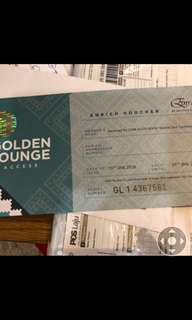 Golden lounge voicher
