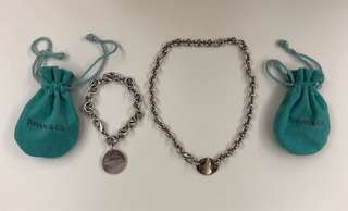 Tiffany Necklace銀頸鍊+手鍊