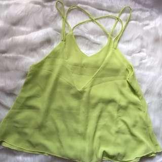 Light green Sheer top