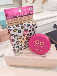 Cathy doll speed white cc powder pact spf40 pa+++ • 4.5g • cute travel size mini package