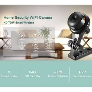 2018 BESDER Button HD 720P Mini WIFI Camera ONVIF P2P Two-way Audio Motion Detection Email Alert 1MP Wireless IP Camera Baby Monitor