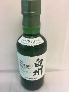 日本白州Hakushu Malt純麥威士忌 whisky 180ml
