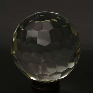 A piece of Clear faceted glass sphere