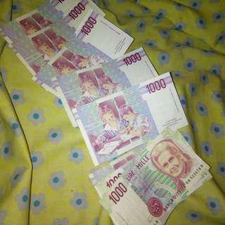 Mata Uang Italia 1000