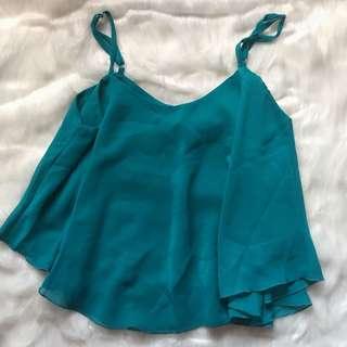 Aquamarine sheer top