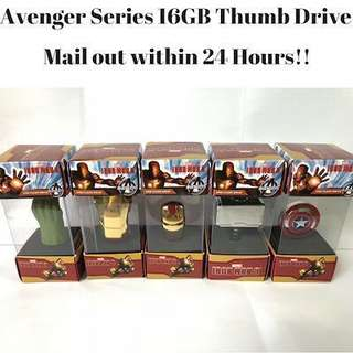 🚚 Avengers 16GB Thumb drive (Thumbdrive drives Thumbdrives Flash flashdrive Flashdrives)