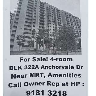 322A Anchorvale Drive 4-Rm HDB for Sale