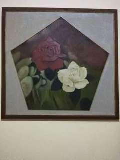 Lukisan Mawar Merah Putih karya Bpk. Hoegeng
