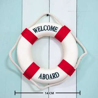 Small Nautical Life Saver / Buoy / Float (red) **RENTAL** Wedding / Events Props & Deco