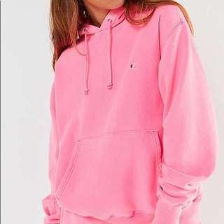 Champion Pink Hoodie (Medium)